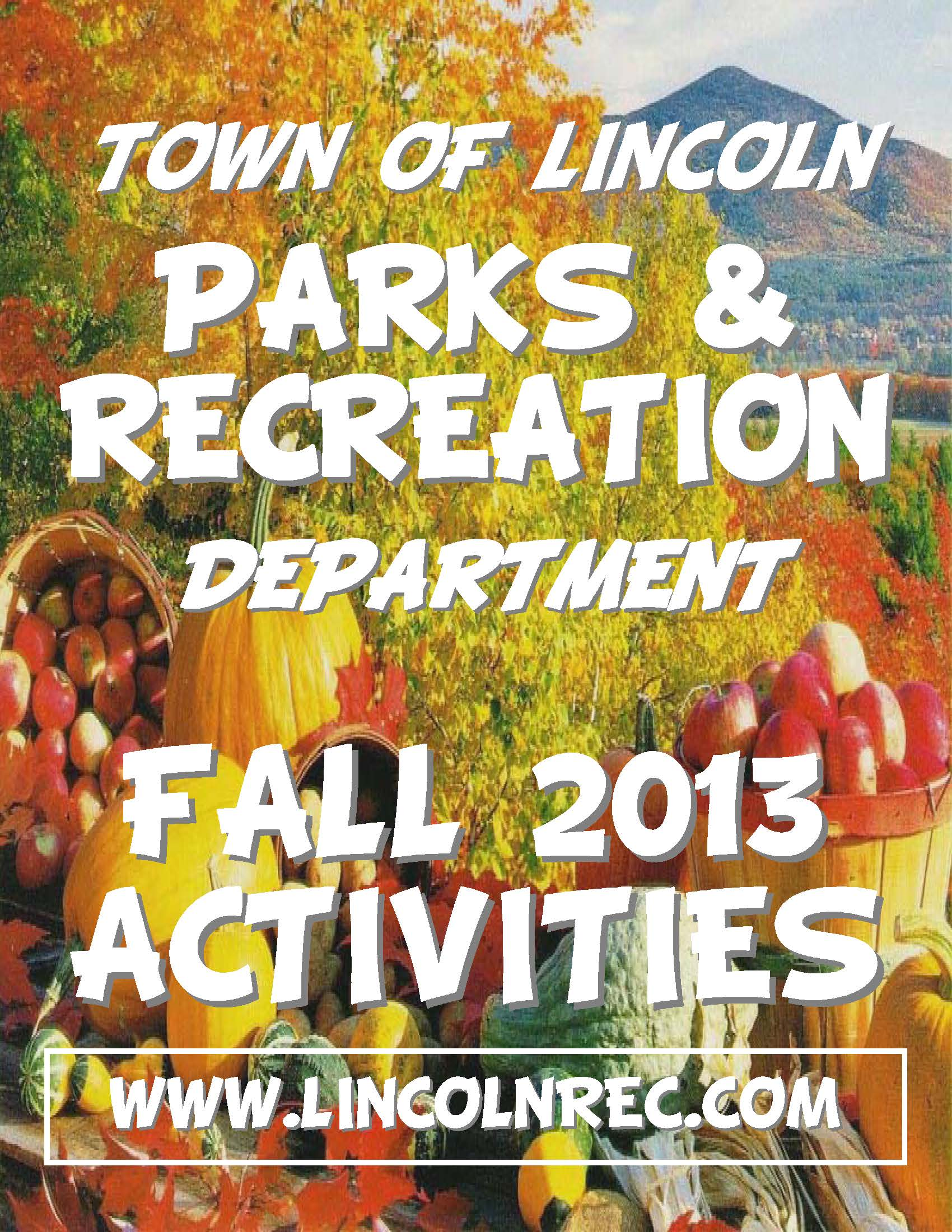 Fall Brochure - Front Page Picture